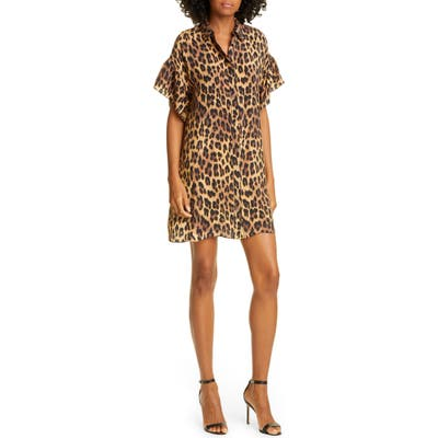 Alice + Olivia Jude Leopard Print Tunic Dress, Brown