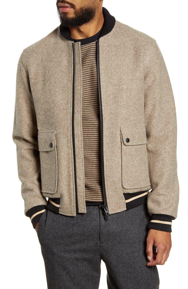 OLIVER SPENCER Bermondsey Slim Fit Bomber Jacket, Main, color, 270