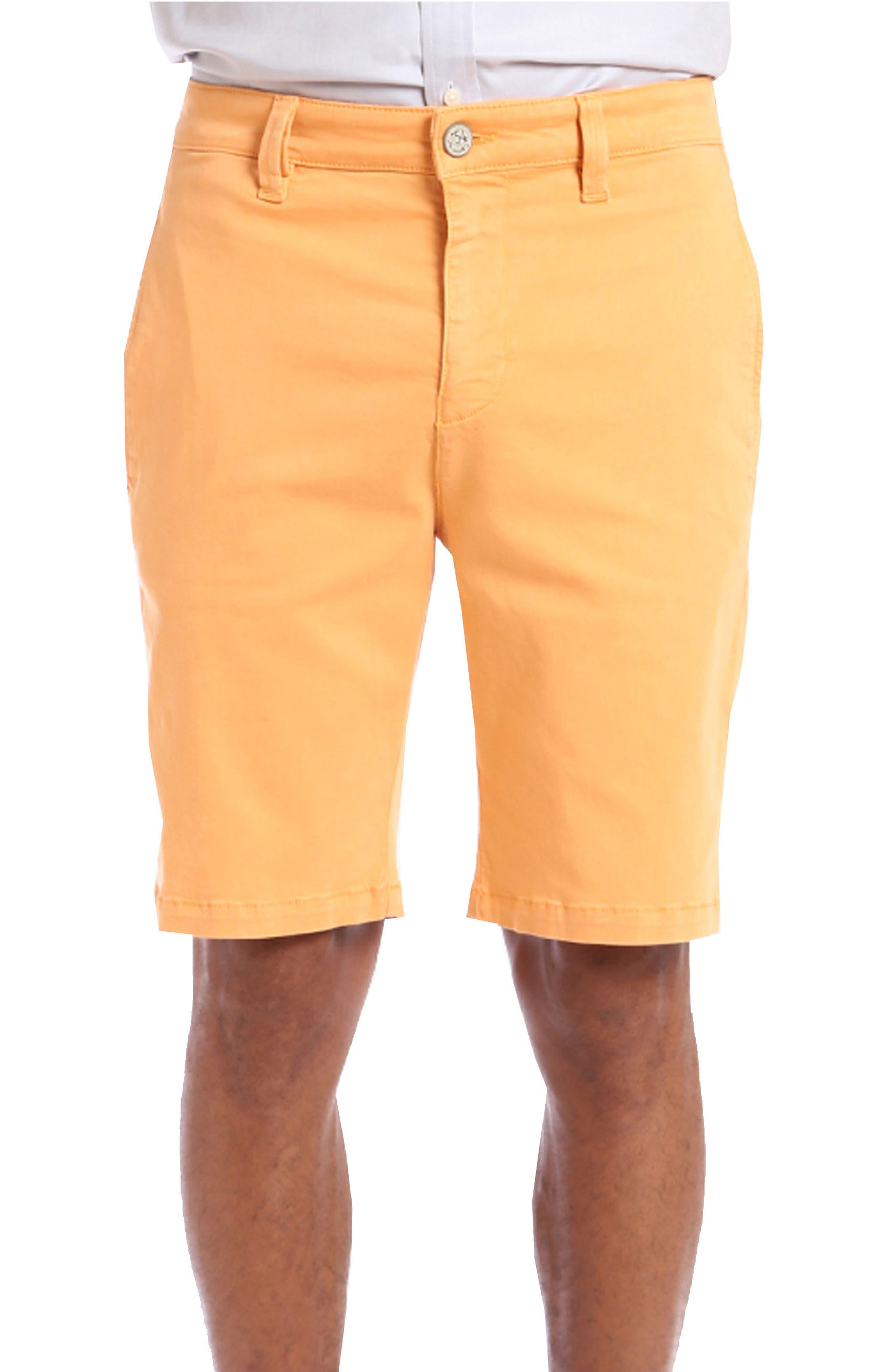 Nevada Twill Shorts, Main, color, PEACH TWILL
