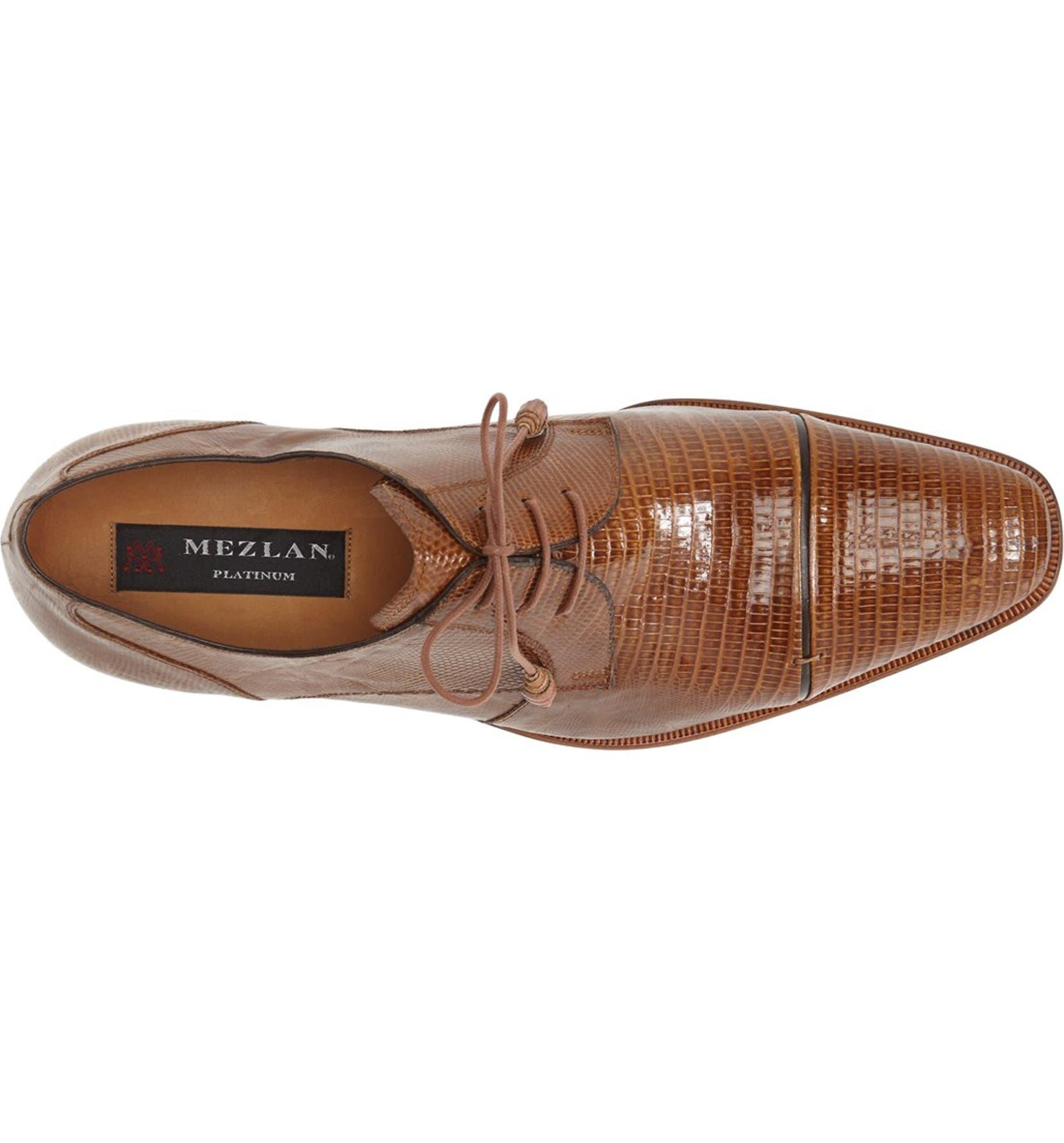 6cc95f898 Mezlan 'Valdes' Lizard Leather Cap Toe Derby (Men) | Nordstrom