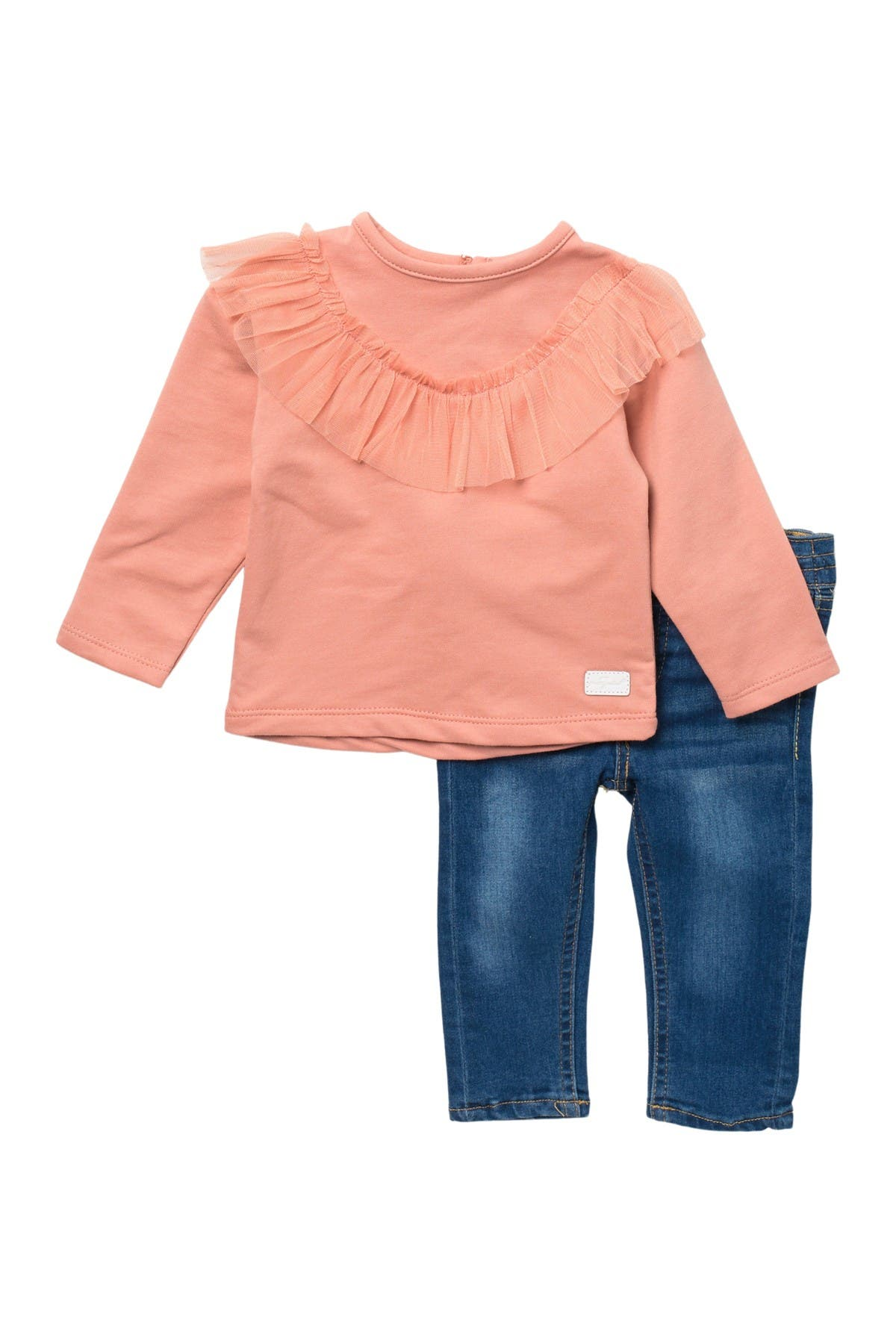 Image of 7 For All Mankind Ruffle Top & Jeans Set