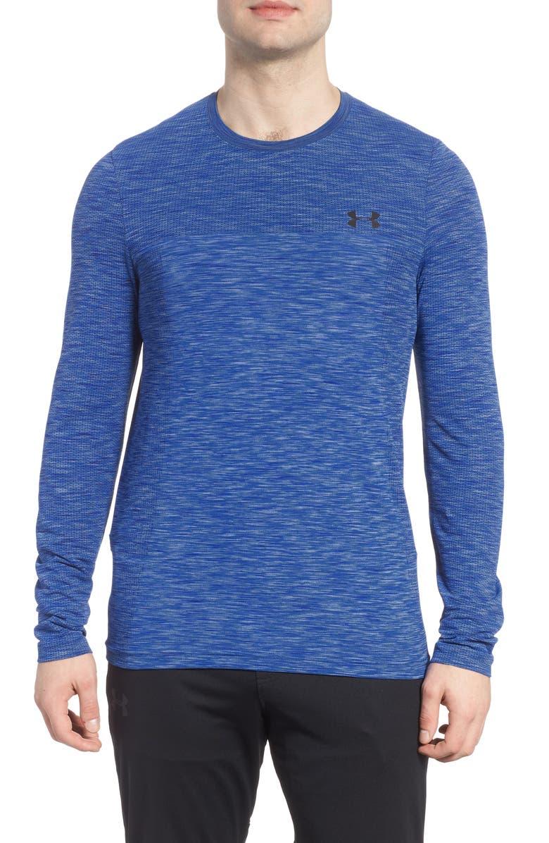 UNDER ARMOUR Siphon Long Sleeve Performance T-Shirt, Main, color, ROYAL/ BLACK
