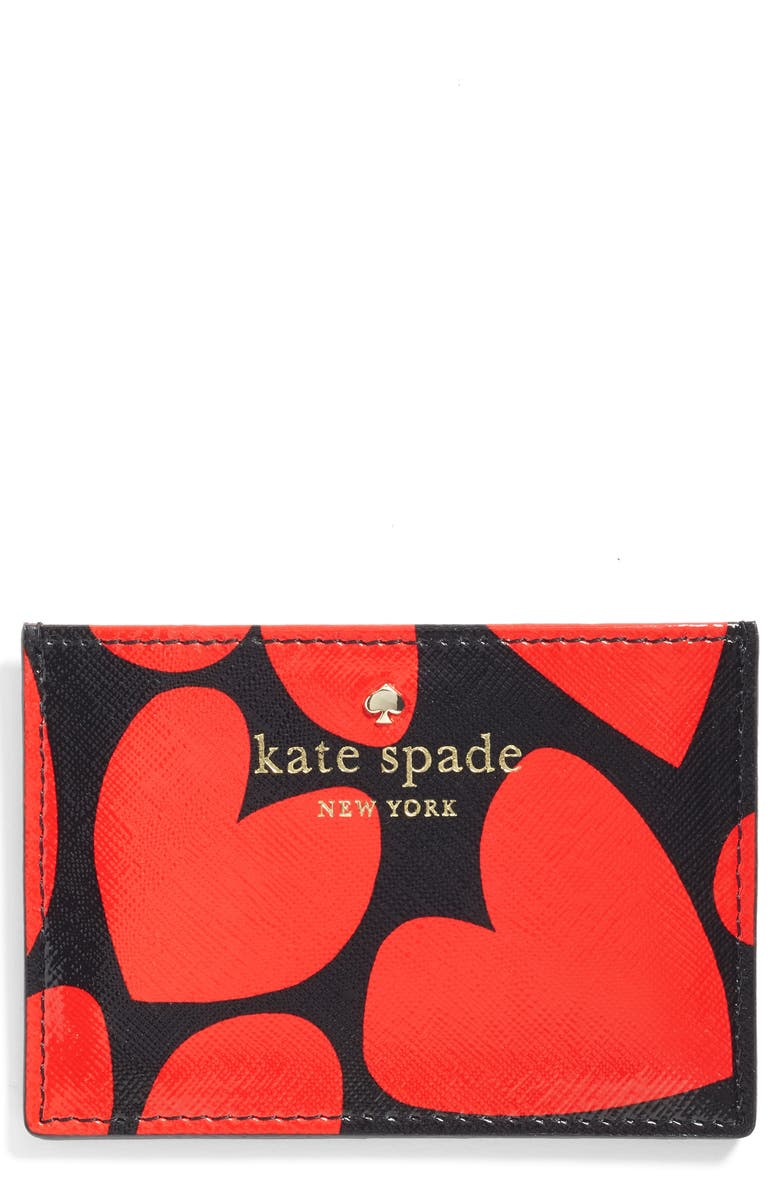 KATE SPADE NEW YORK be mine card case, Main, color, 604