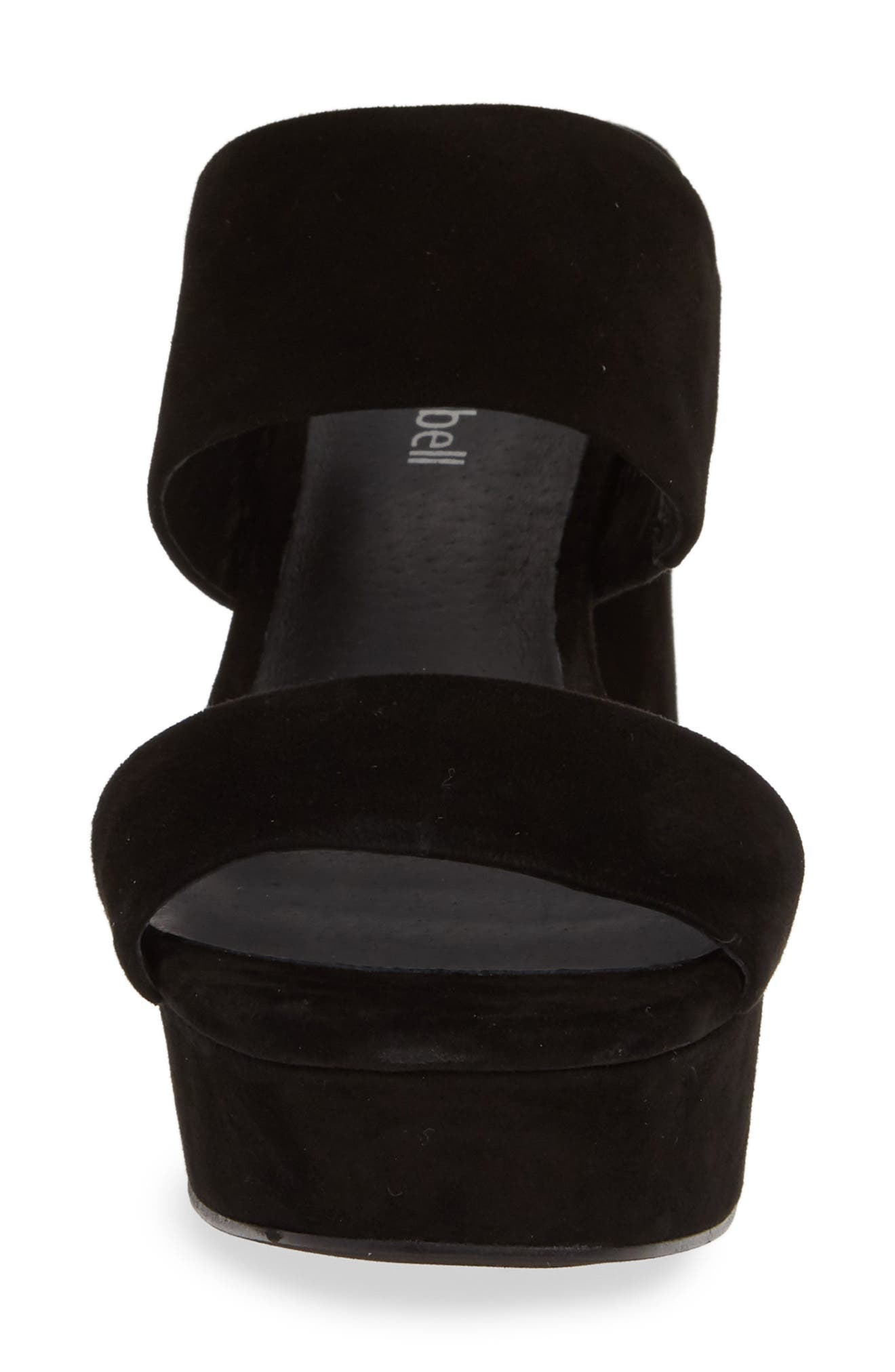 ,                             Adriana-2 Platform Slide Sandal,                             Alternate thumbnail 5, color,                             BLACK SUEDE
