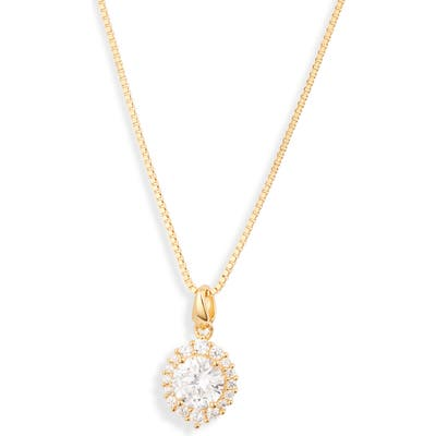 Nordstrom Small Marquise Halo Pendant Necklace