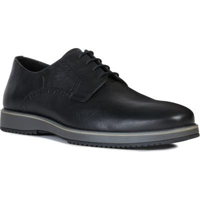 Geox Tyren Plain Toe Derby, Black