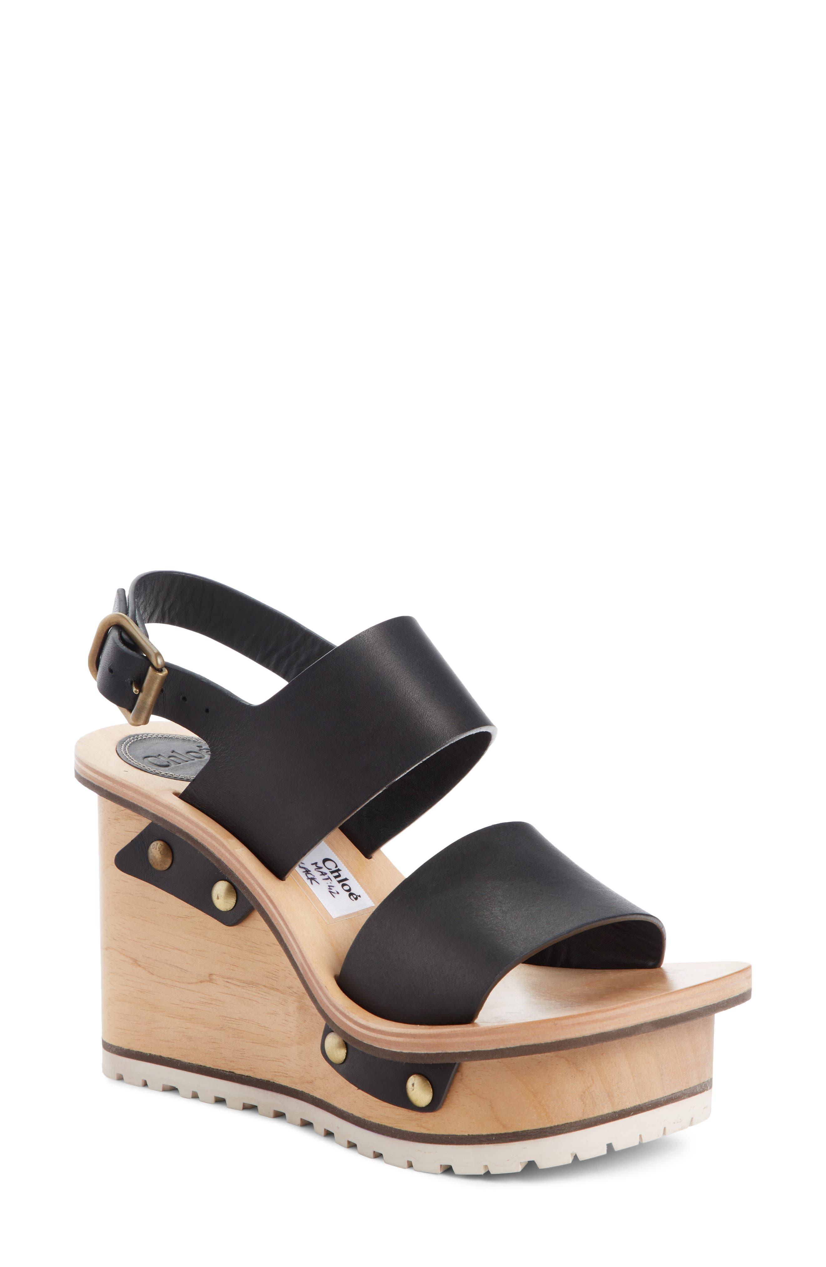 Chloe Valentine Platform Wedge Sandal