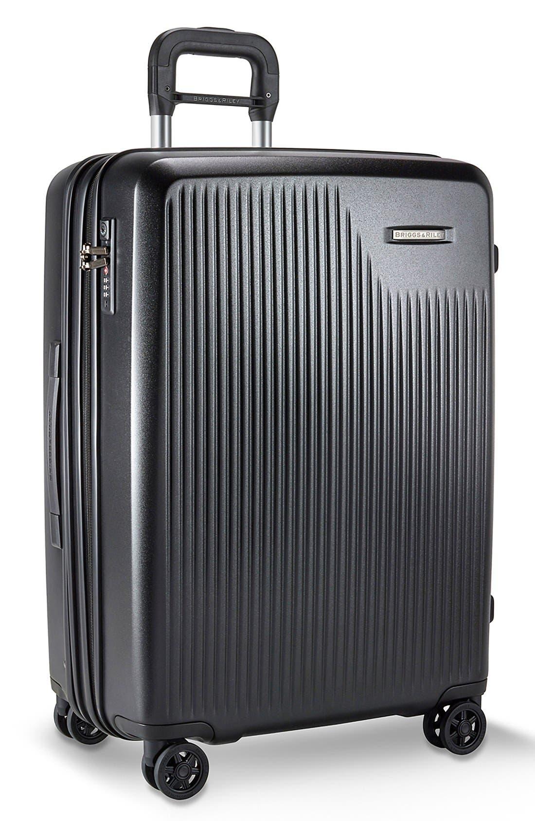 ,                             'Sympatico' Expandable Wheeled Packing Case,                             Alternate thumbnail 2, color,                             BLACK