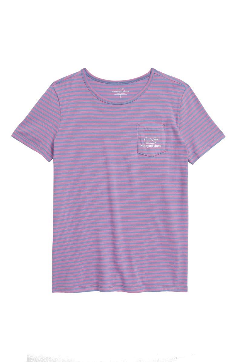 VINEYARD VINES Beachcomber Stripe Vintage Pocket Tee, Main, color, SKYFALL