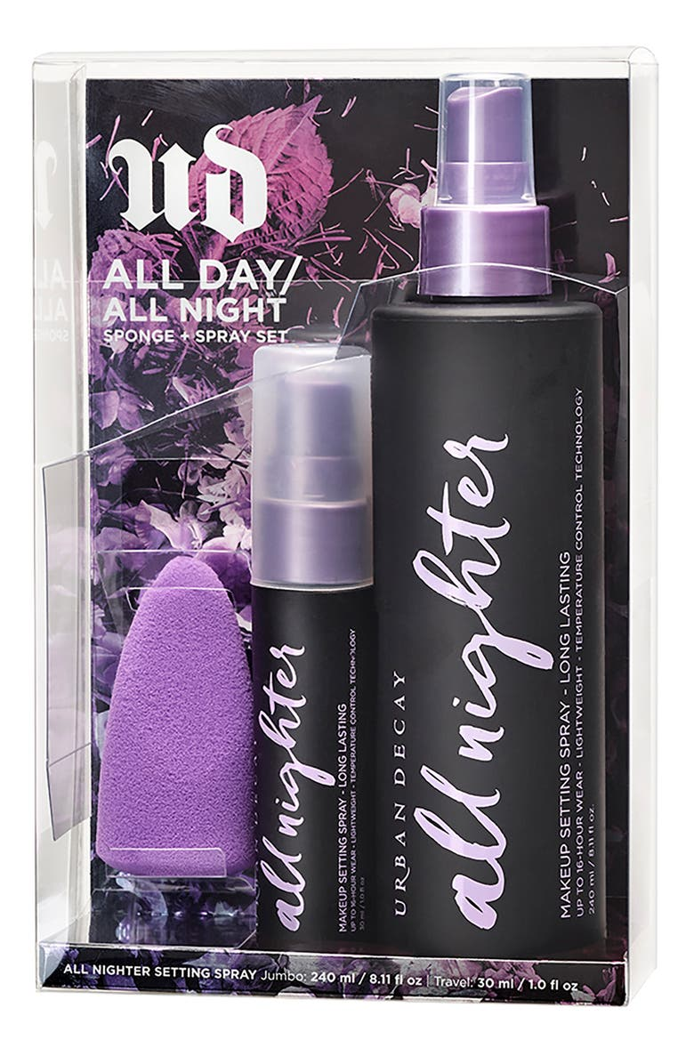 URBAN DECAY All Day All Night Sponge + Spray Set, Main, color, 000