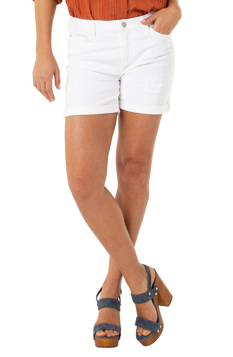 LIVERPOOL Vickie Shorts, Main, color, BRIGHT WHITE
