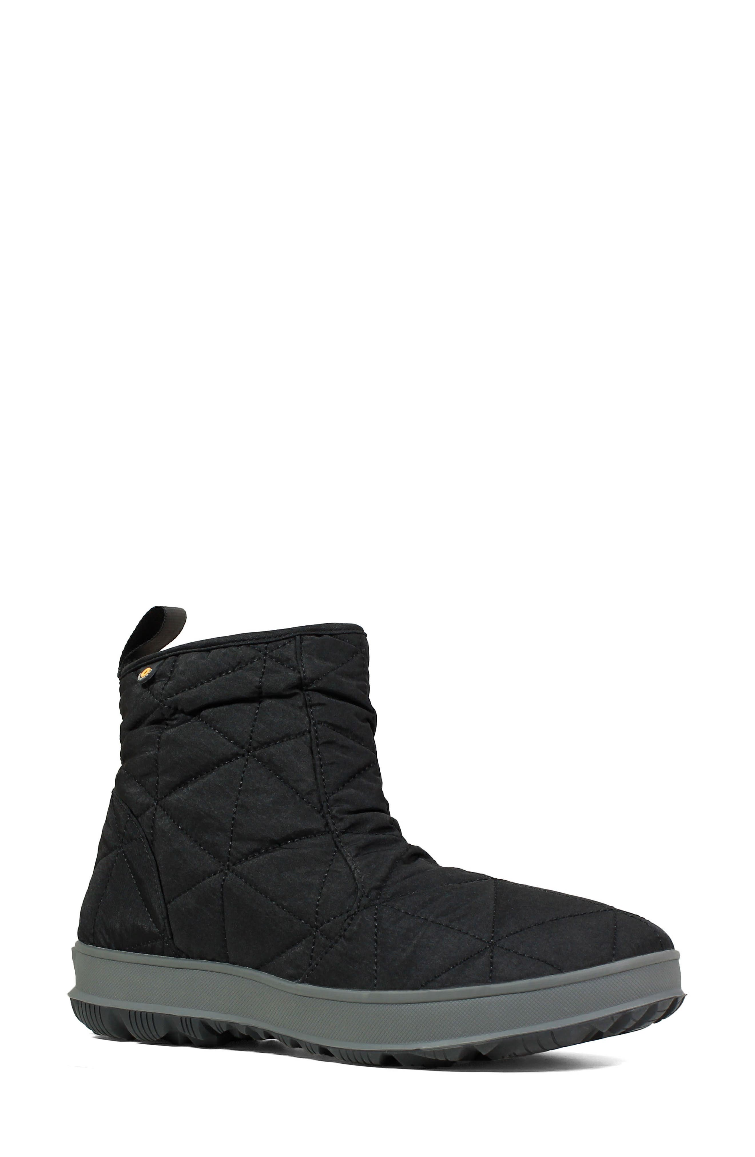 ,                             Snowday Waterproof Quilted Snow Boot,                             Main thumbnail 1, color,                             001