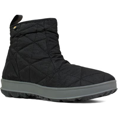 Bogs Snowday Waterproof Quilted Snow Boot, Black