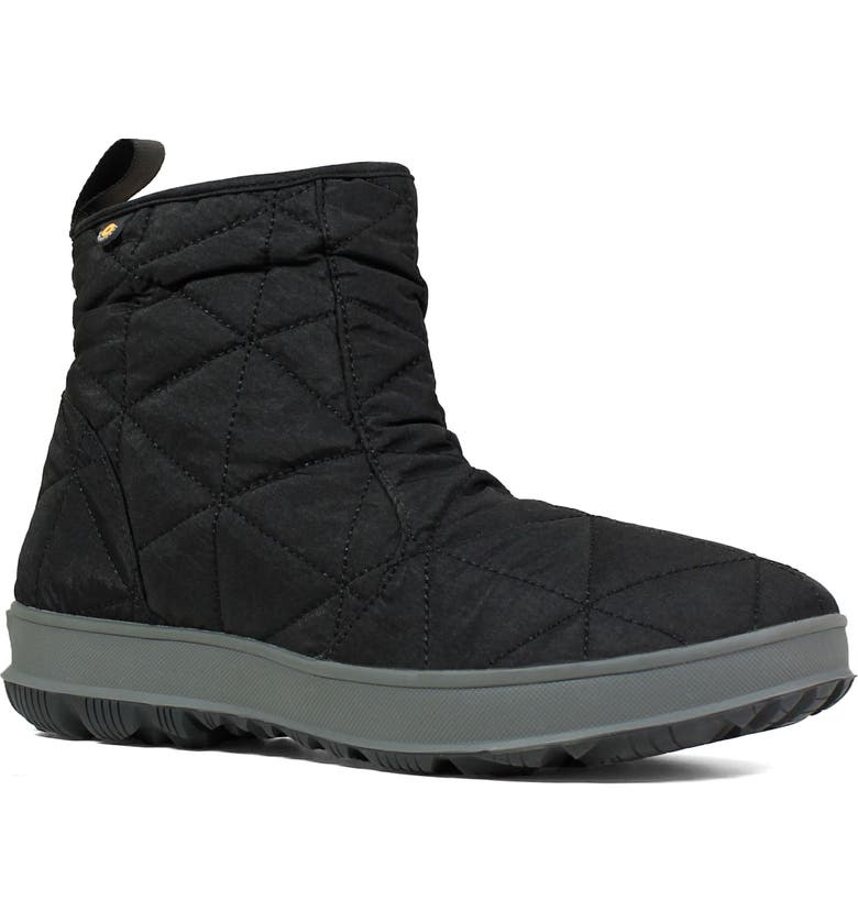 BOGS Snowday Waterproof Quilted Snow Boot, Main, color, BLACK