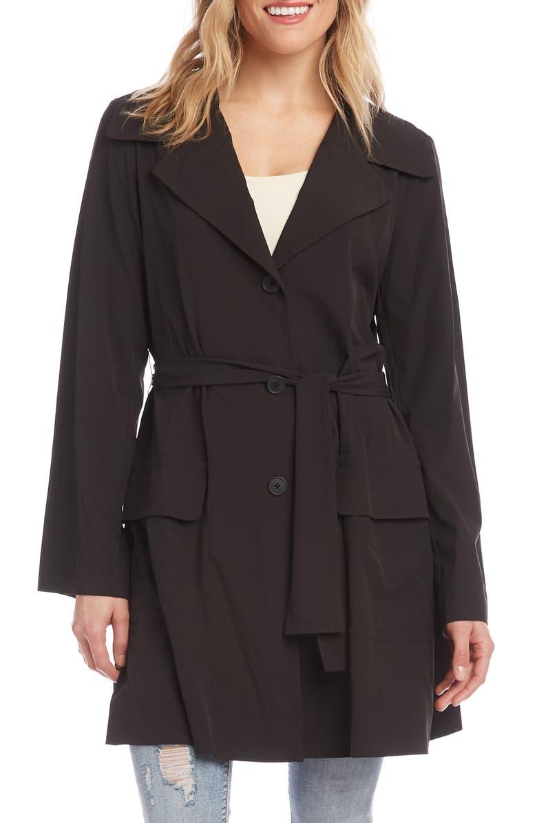 KAREN KANE Packable Travel Jacket, Main, color, BLACK