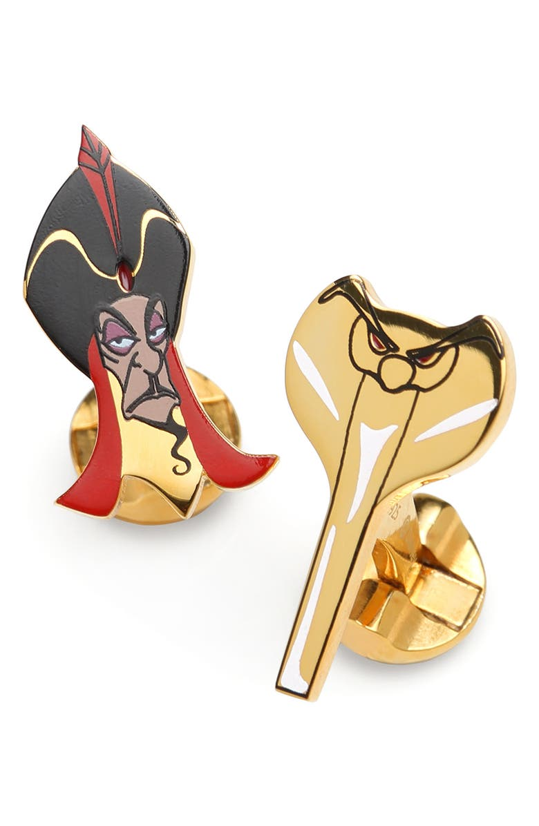 CUFFLINKS, INC. Jafar & Cobra Cuff Links, Main, color, GOLD