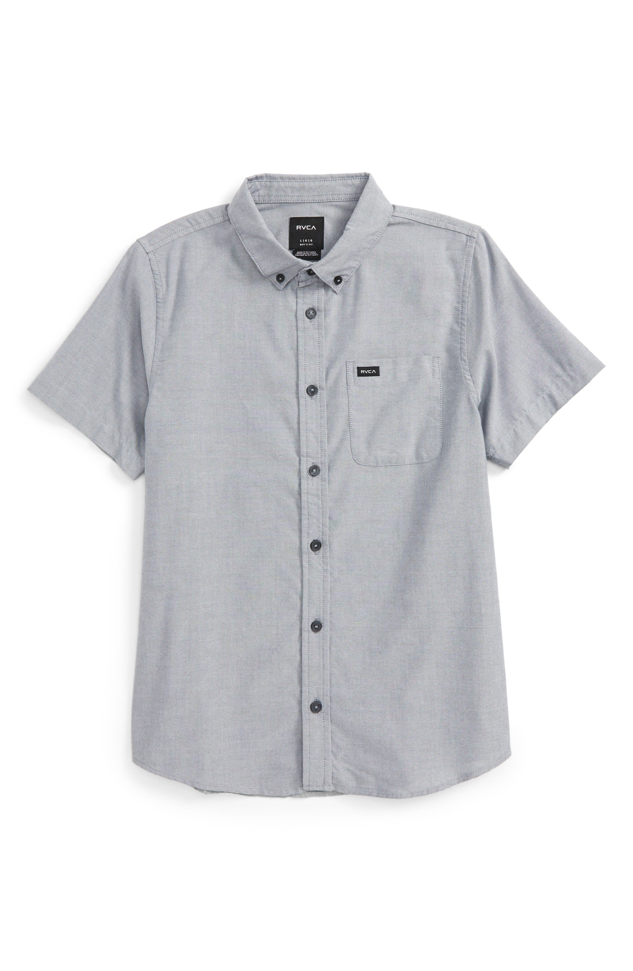 'That'll Do' Woven Shirt, Main, color, PAVEMENT