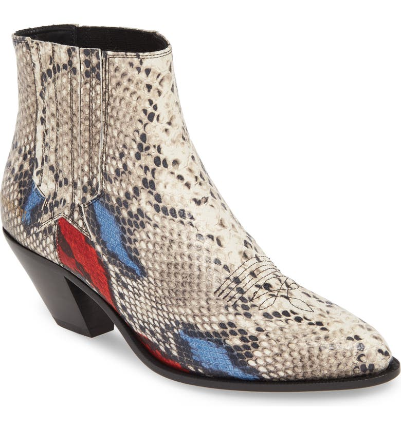 GOLDEN GOOSE Sunset Western Boot, Main, color, CREAM/ RED/ BLUE