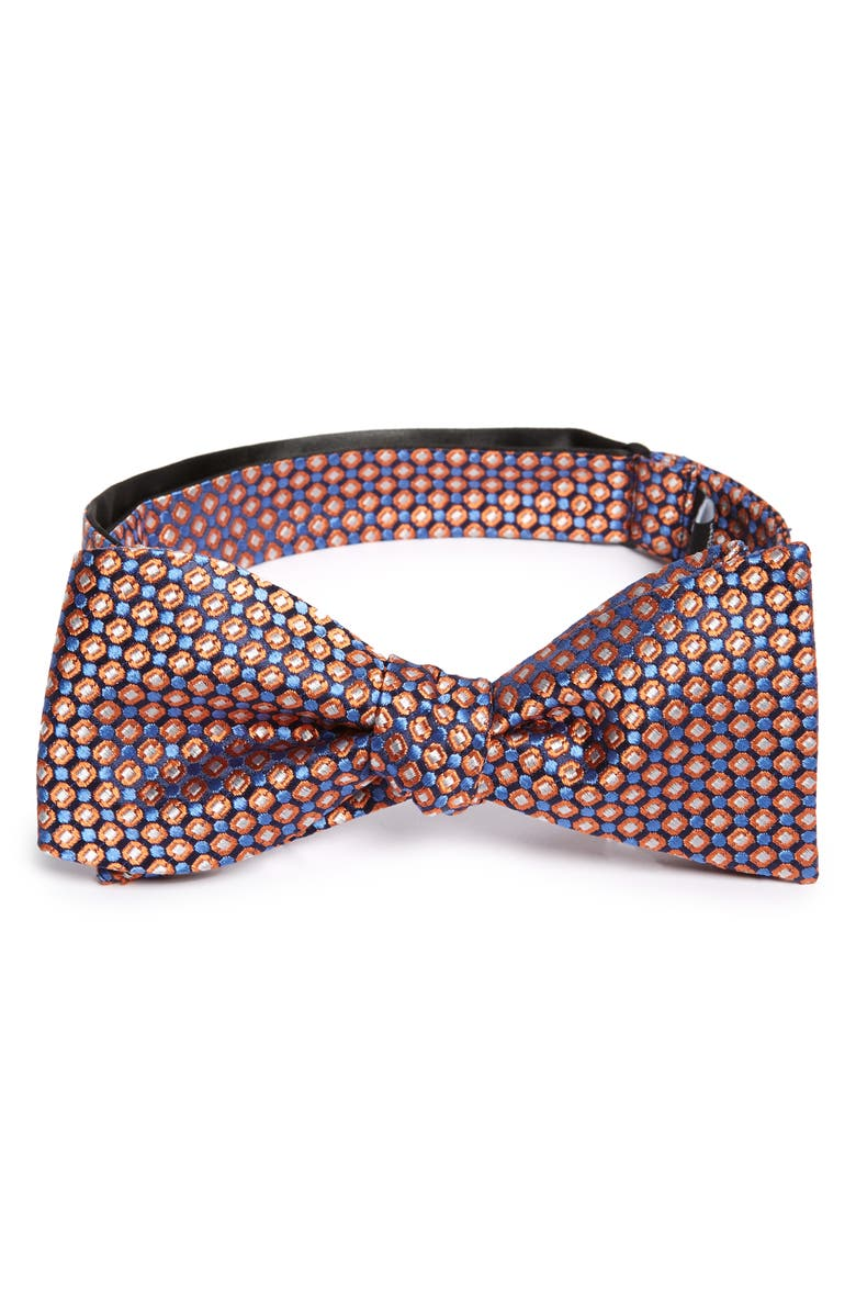 NORDSTROM MEN'S SHOP Aikens Silk Bow Tie, Main, color, ORANGE