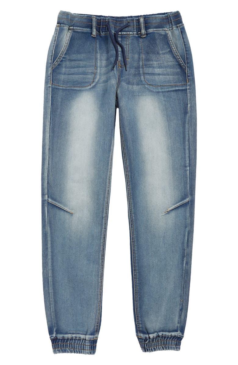 WESC Denim Jogger Pants, Main, color, 410