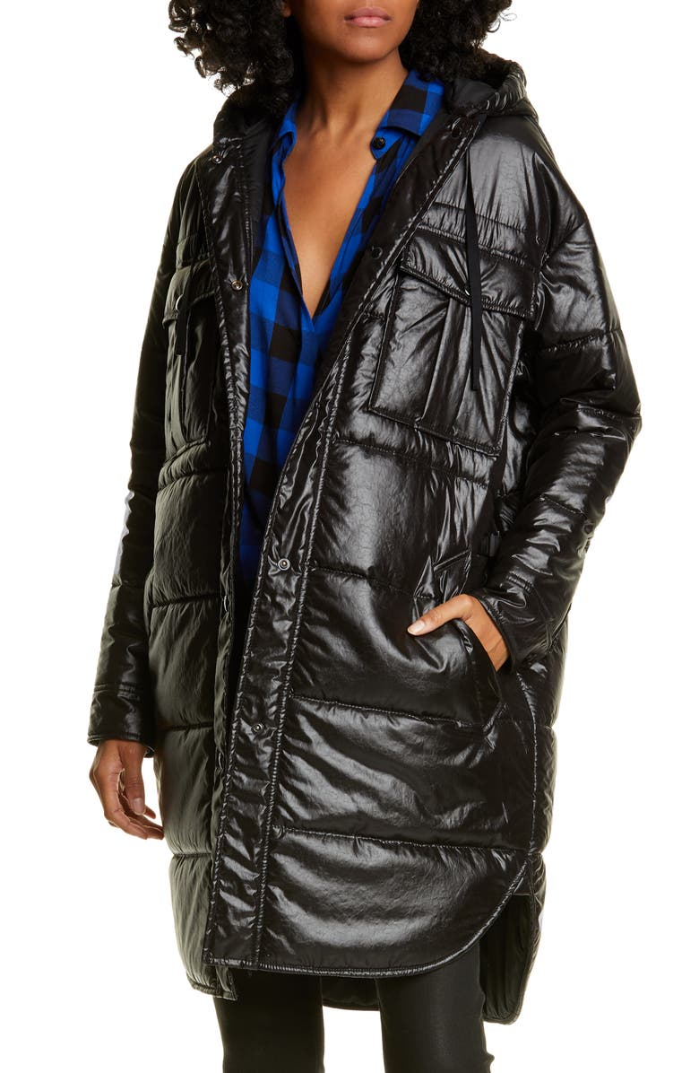 RAG & BONE Beck Quilted Coat, Main, color, 001