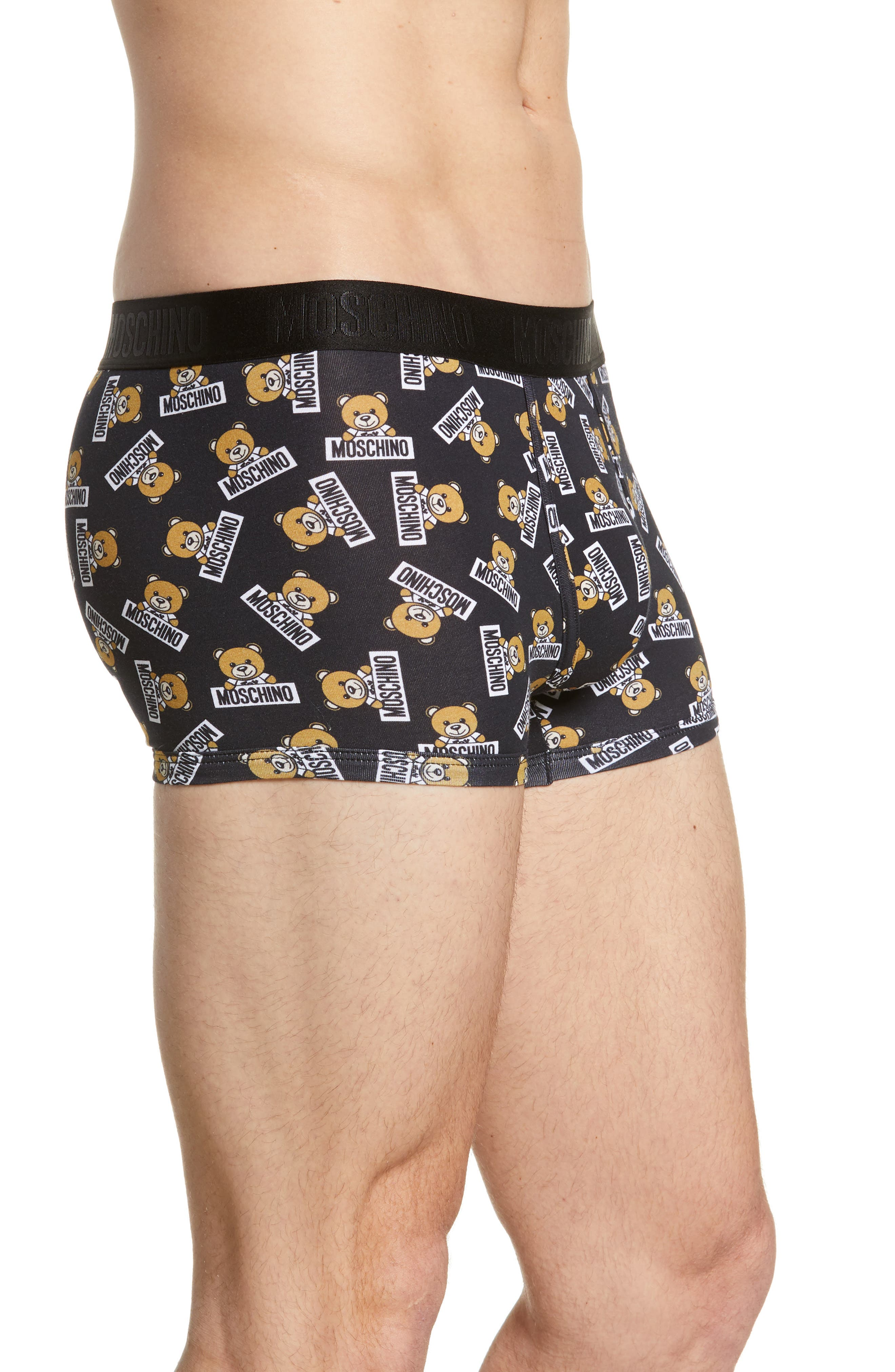 ,                             Underbear Logo Trunks,                             Alternate thumbnail 3, color,                             BLACK