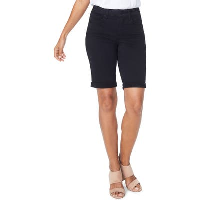 Plus Size Nydj Briella Roll Cuff Bermuda Shorts, Black