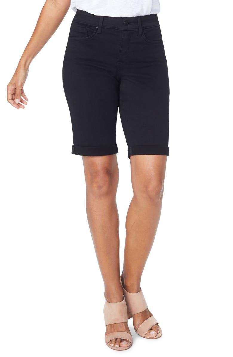 NYDJ Briella Roll Cuff Bermuda Shorts, Main, color, 001