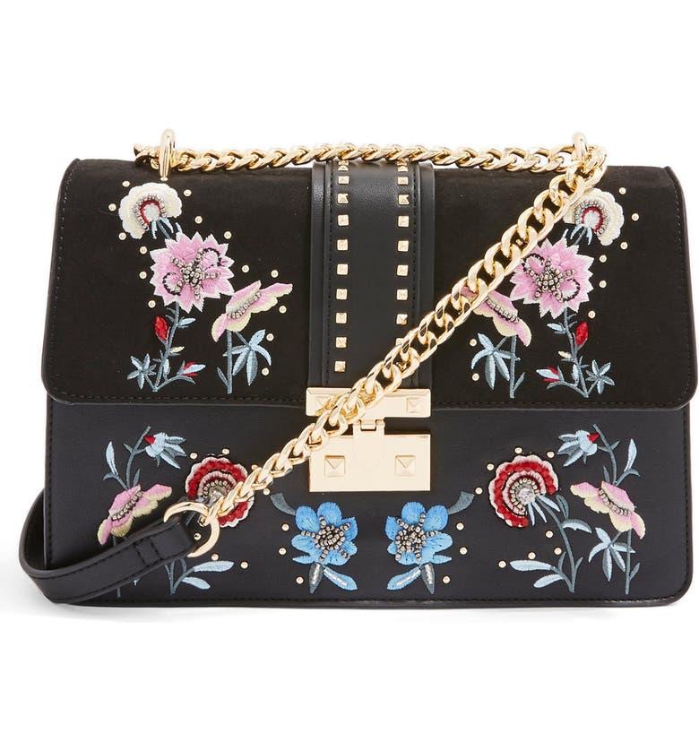 TOPSHOP Darcy Floral Shoulder Bag, Main, color, 001
