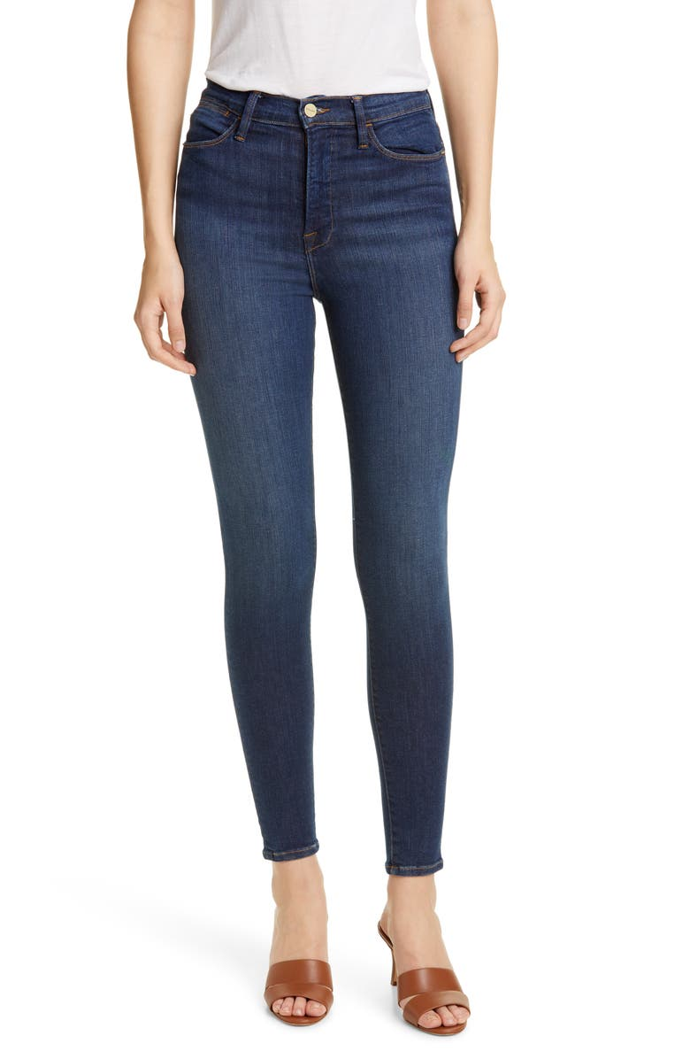 FRAME Ali High Waist Skinny Cigarette Jeans, Main, color, HOLZMAN