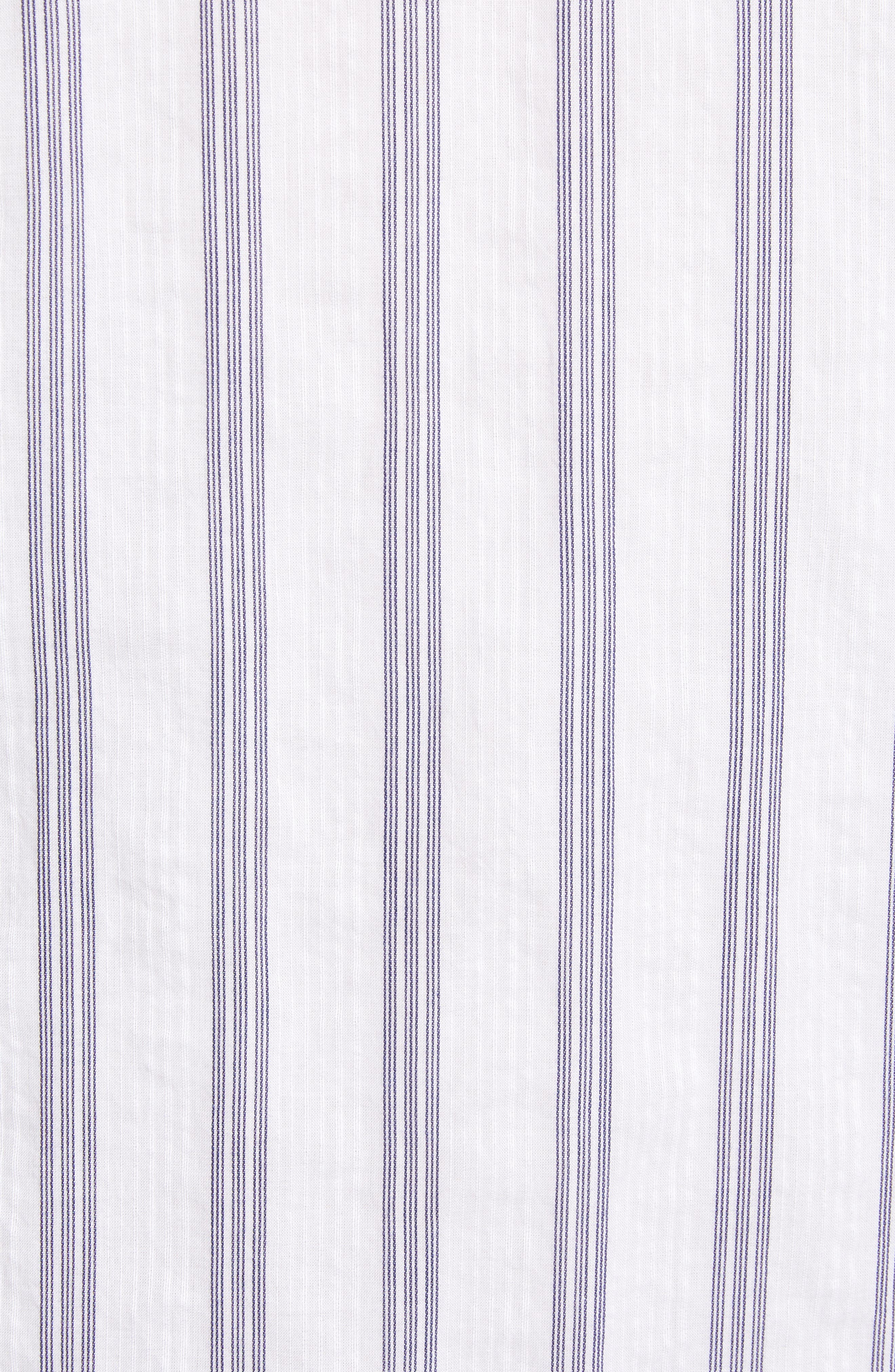 ,                             Stripe Shirtdress,                             Alternate thumbnail 6, color,                             BLUE- WHITE TAILOR STRIPE