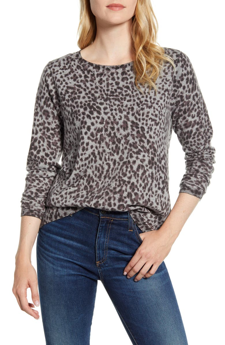 WIT & WISDOM Back Button Long Sleeve Sweater, Main, color, 099