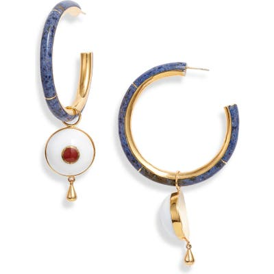 Monica Sordo Brujo Semiprecious Stone Hoop Earrings
