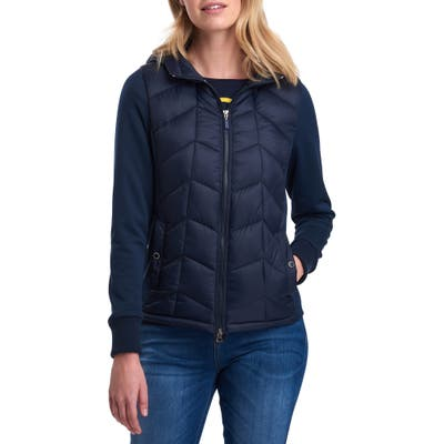Barbour Sidelight Quilted Hooded Jacket, US / 12 UK - Blue
