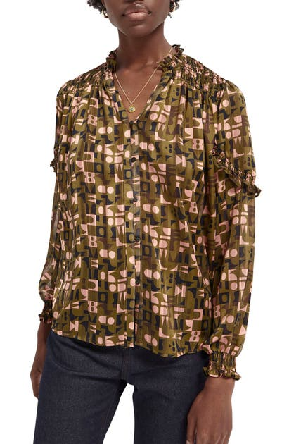 Scotch & Soda ABSTRACT PRINT BLOUSE
