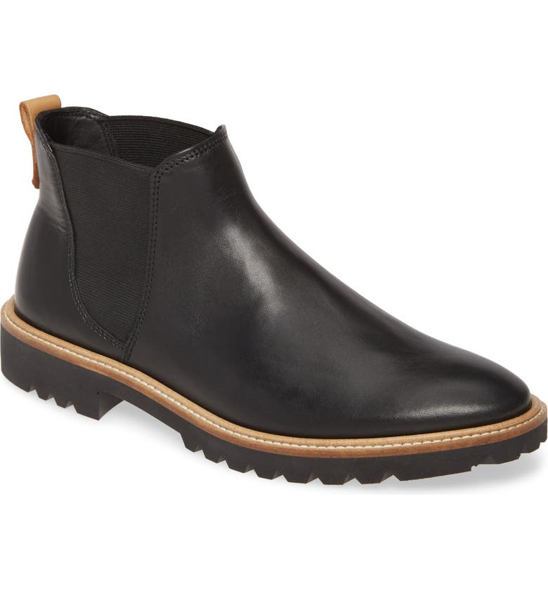 ECCO Incise Tailored Chelsea Boot, Main, color, BLACK LEATHER