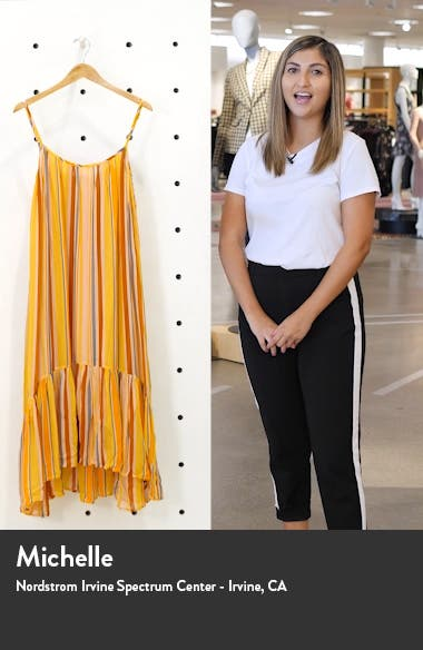Paola Stripe Sleeveless Dress, sales video thumbnail