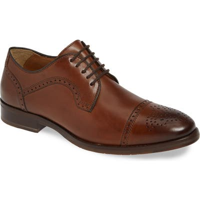 Johnston & Murphy Halford Cap Toe Derby, Brown