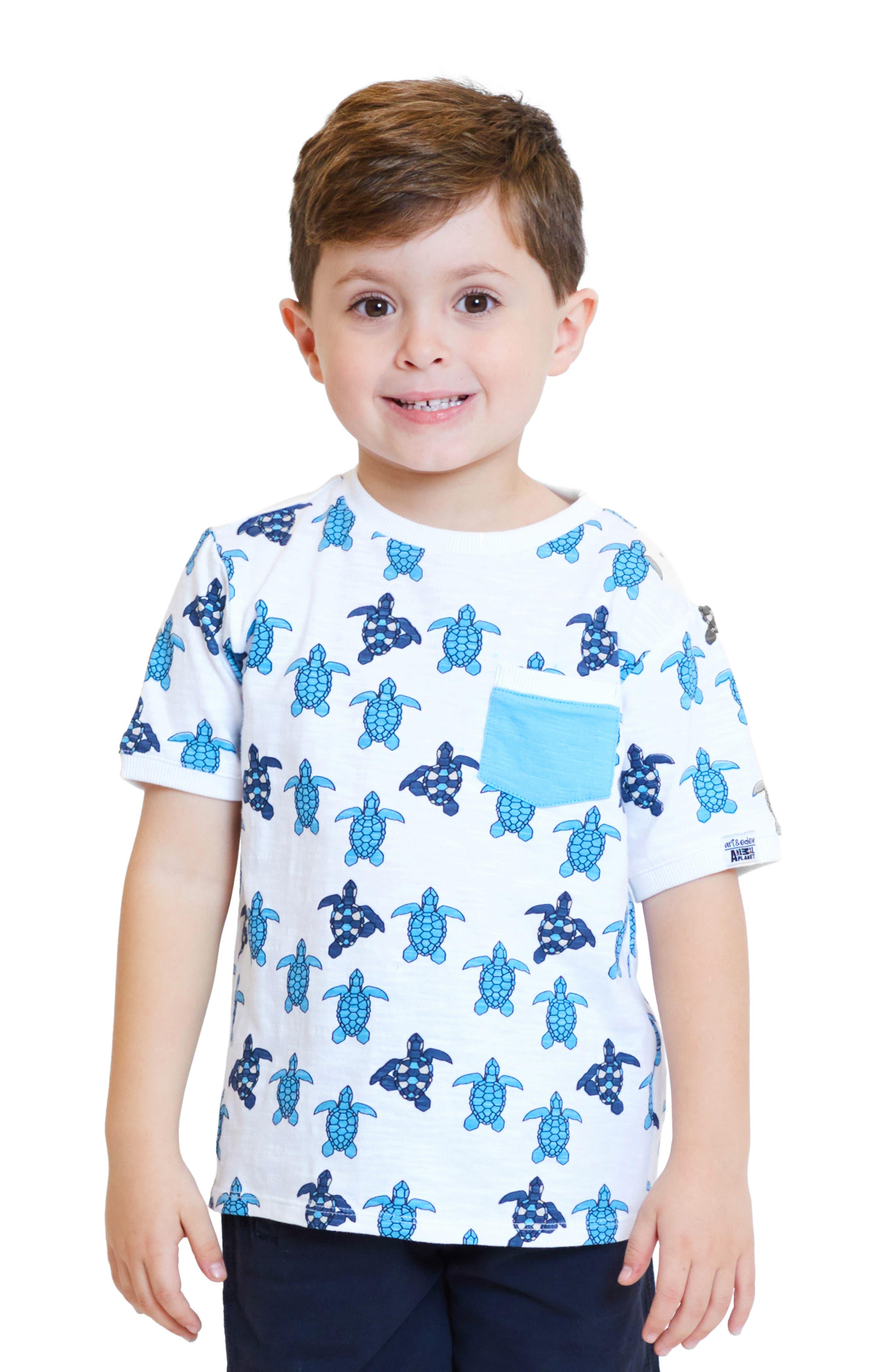 ,                             x Animal Planet Keith Organic Cotton T-Shirt,                             Alternate thumbnail 2, color,                             TURTLE GEO