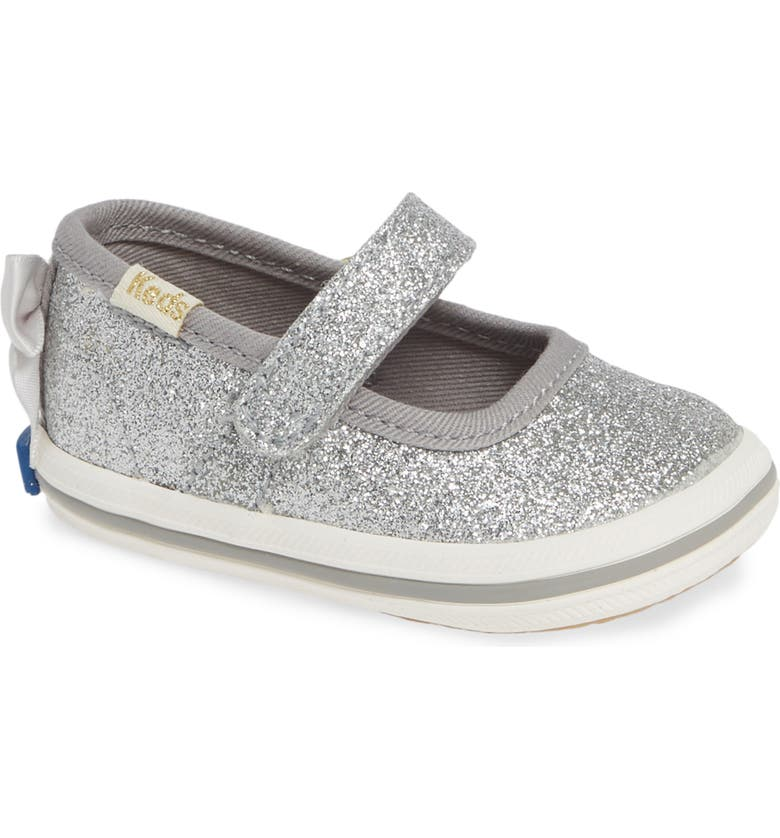 KEDS<SUP>®</SUP> x kate spade new york Sloan Mary Jane Glitter Flat, Main, color, SILVER