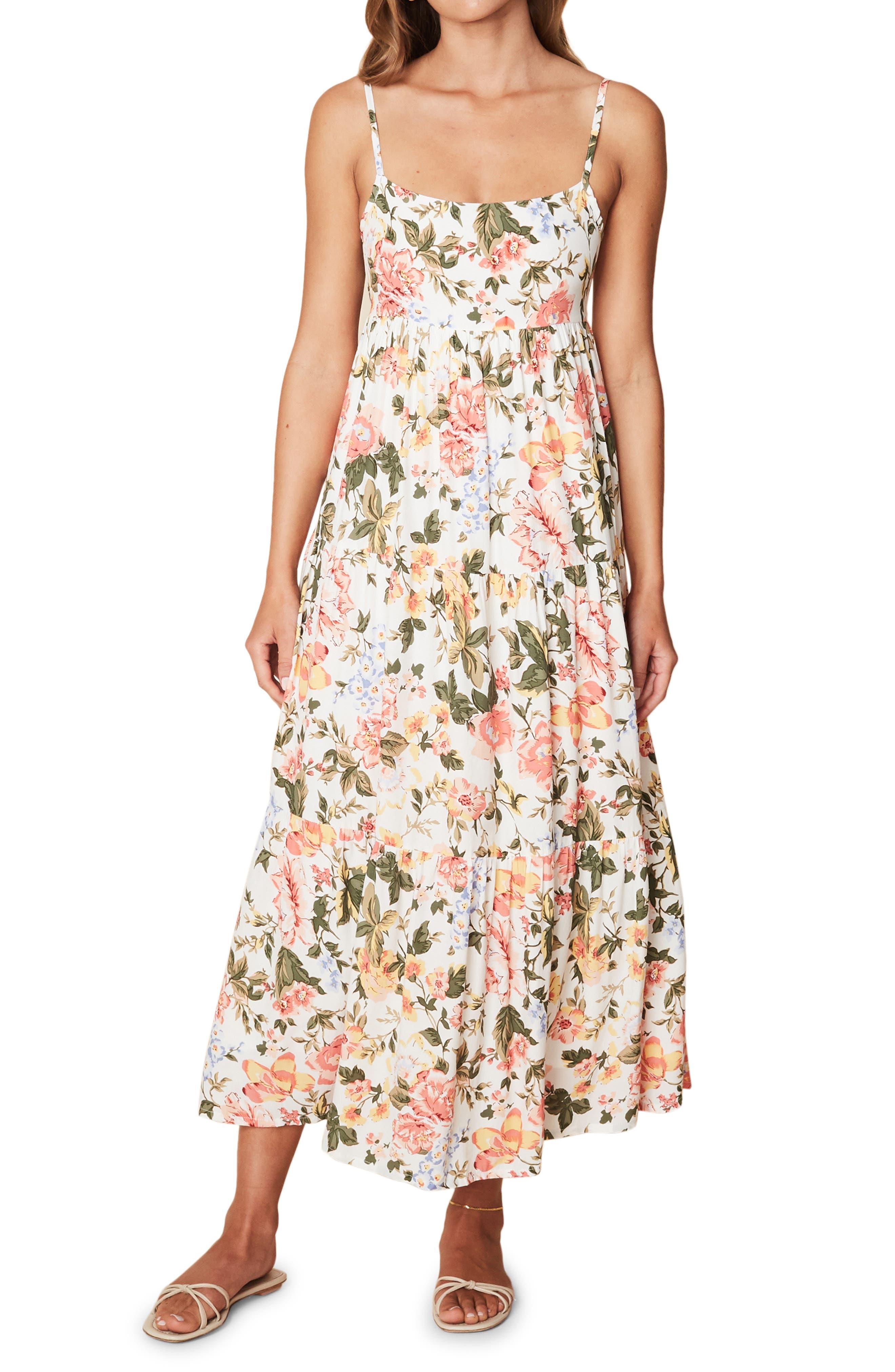 Corvina Floral Print Midi Dress