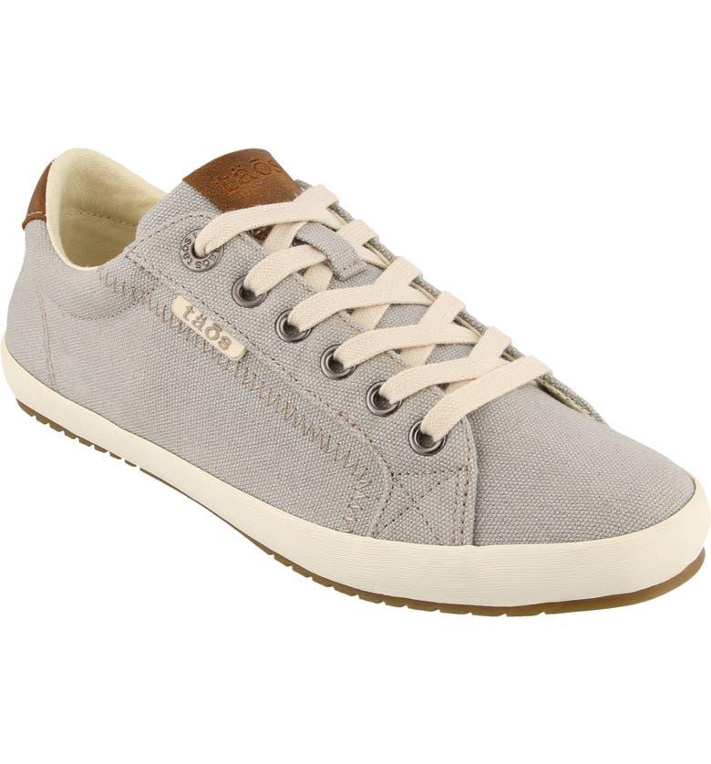 TAOS Starburst Sneaker, Main, color, GREY/ TAN CANVAS