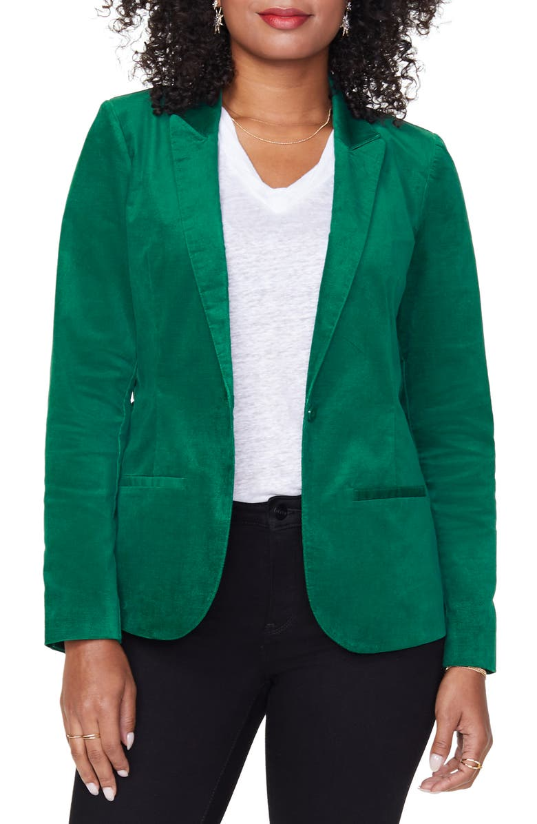 NYDJ Velvet Blazer, Main, color, MOUNTAIN PINE