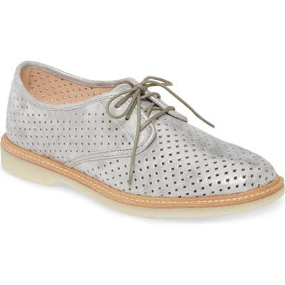 Johnston & Murphy Fiona Perforated Derby, Metallic