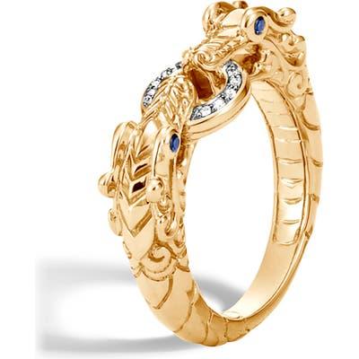 John Hardy Legends Naga Diamond Pave Ring