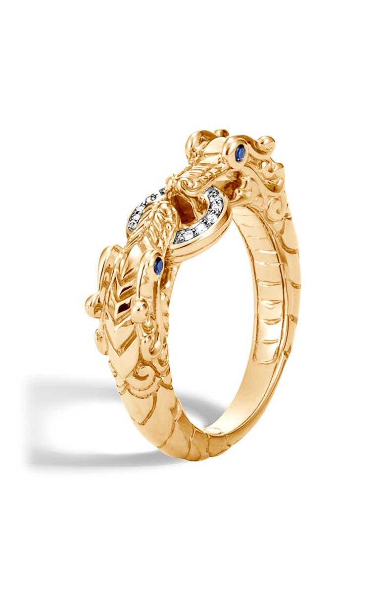 JOHN HARDY Legends Naga Diamond Pavé Ring, Main, color, 710