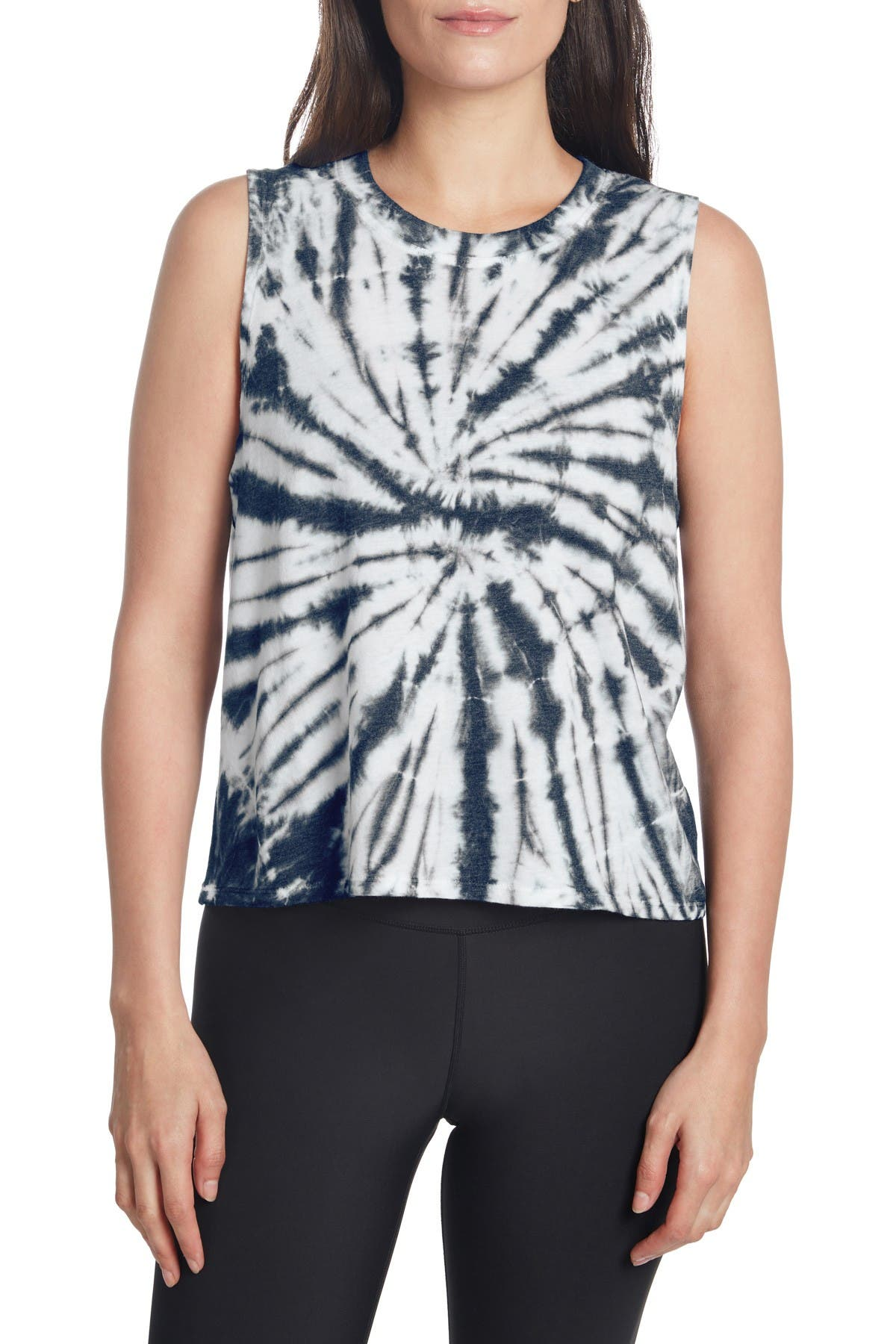 Image of SAGE COLLECTIVE Tie Dye Crew Neck Tank Top