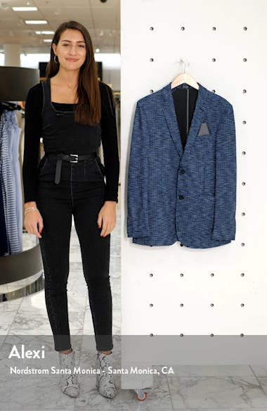 Houndstooth Slim Fit Performance Mesh Blazer, sales video thumbnail