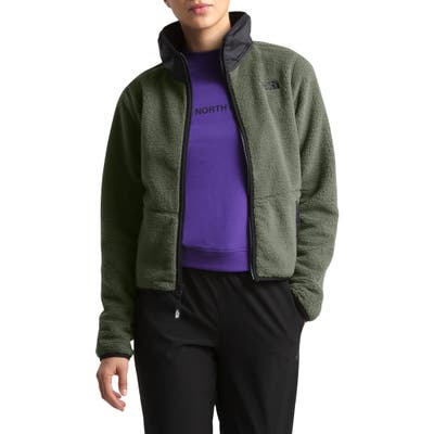 The North Face Dunraven Faux Shearling Jacket, Green