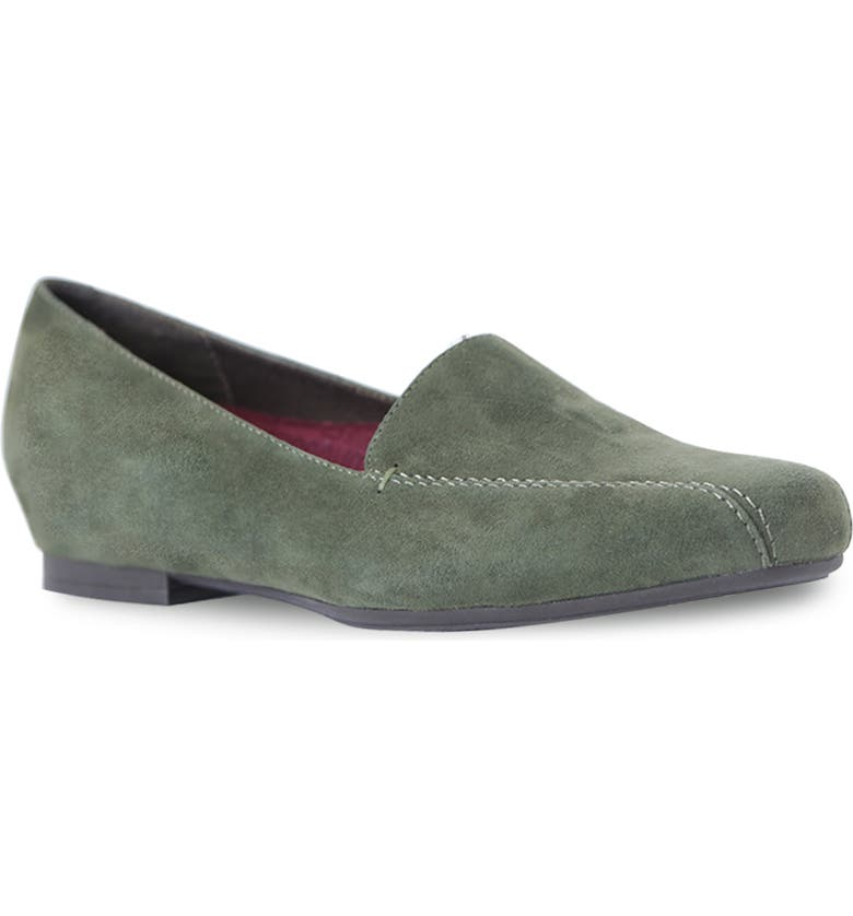 MUNRO Diedre Loafer, Main, color, GREEN SUEDE
